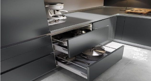 Grey Small Kitchen Design