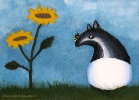 The Tapir and the Butterfly by Lemoncholic
