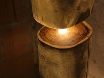 TheShiningWood - Stehlampe aus Massiv-Holz LED