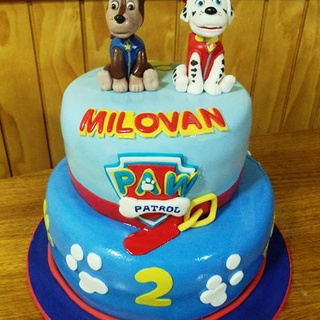 #PawPatrol #Fondant #cake by Volován Productos #instacake #puq #Chile #VolovanProductos #Cakes #Cakestagram #SweetCake