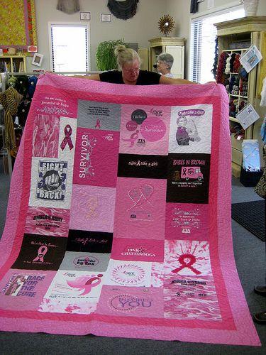 T-Shirt quilt by Nancy Packard