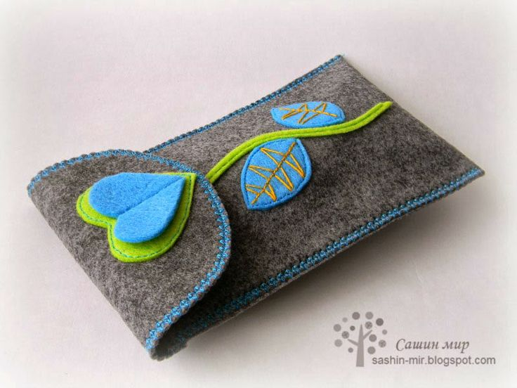 Felt phone case or glases case from sashin-mir.blogspot.com