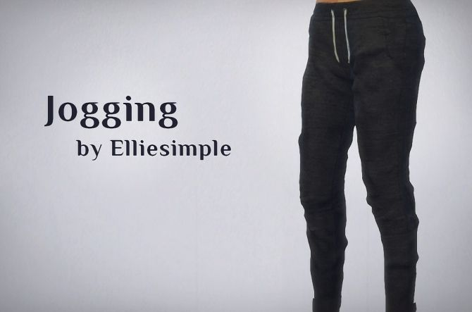 Jogging pants at Elliesimple via Sims 4 Updates