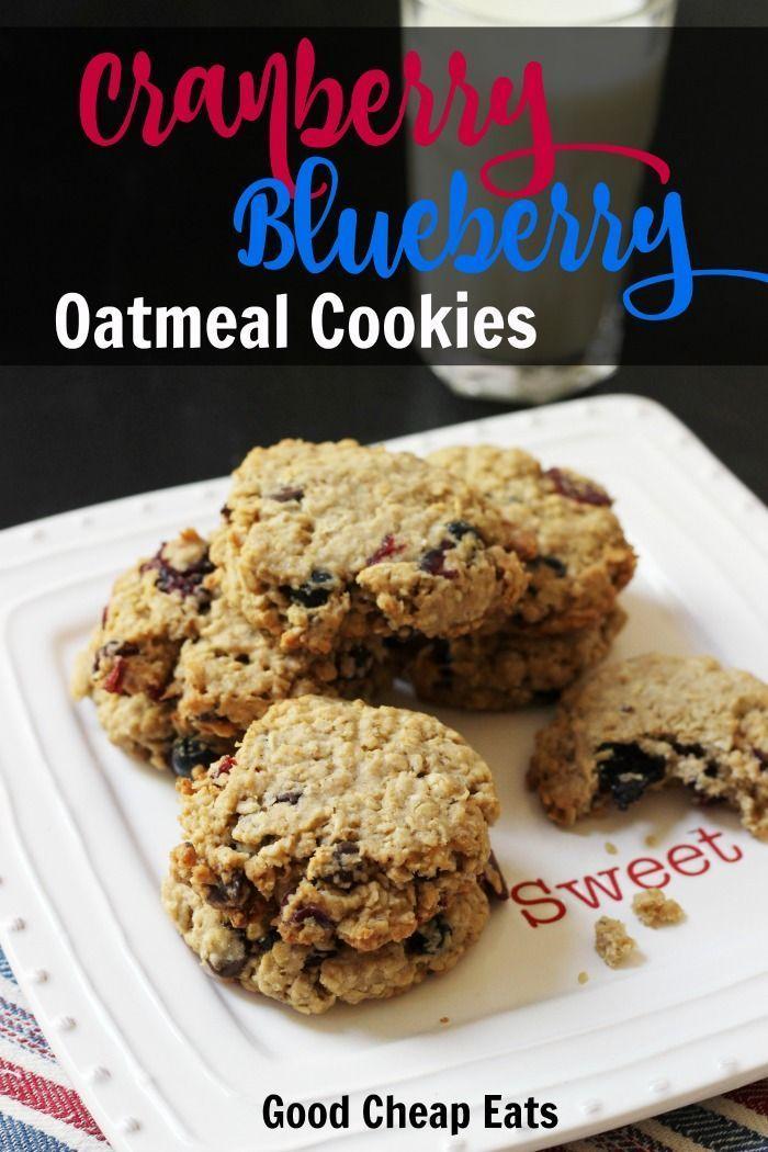 Cranberry Blueberry Oatmeal Cookies   Good Cheap Eats