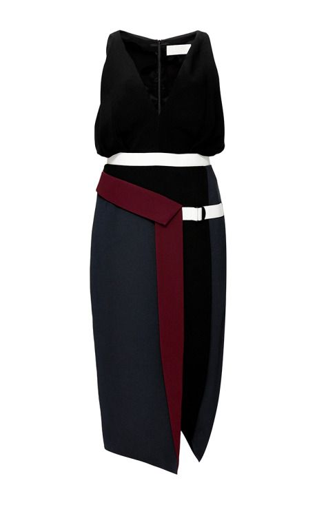 Nika Color-Blocked Crepe Dress by Peter Pilotto Now Available on Moda Operandi