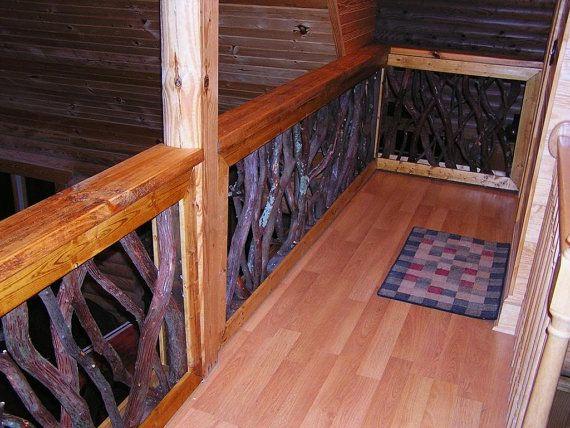 Rustic Mountian Stair Railings: Rustic Rails Railing Porch Stair Decor Log By