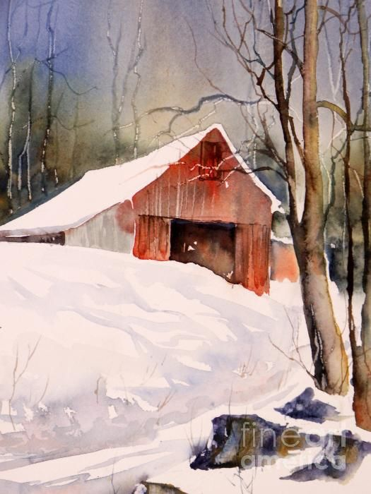Over 1000 id er om acrylic painting techniques p for Watercolor barn paintings