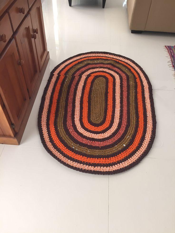 Rag rug took one week to make
