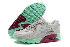 100% genuino donne nike air max 90 scarpe da corsa grigie,viola,rosse,verdi vendita prezzi bassi
