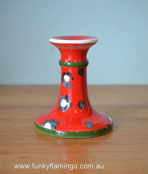 Vintage ceramic candlestick holder mid century retro Italy