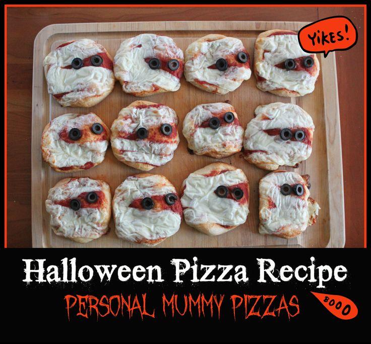 Halloween Pizza Recipe: Personal Mummy Pizzas
