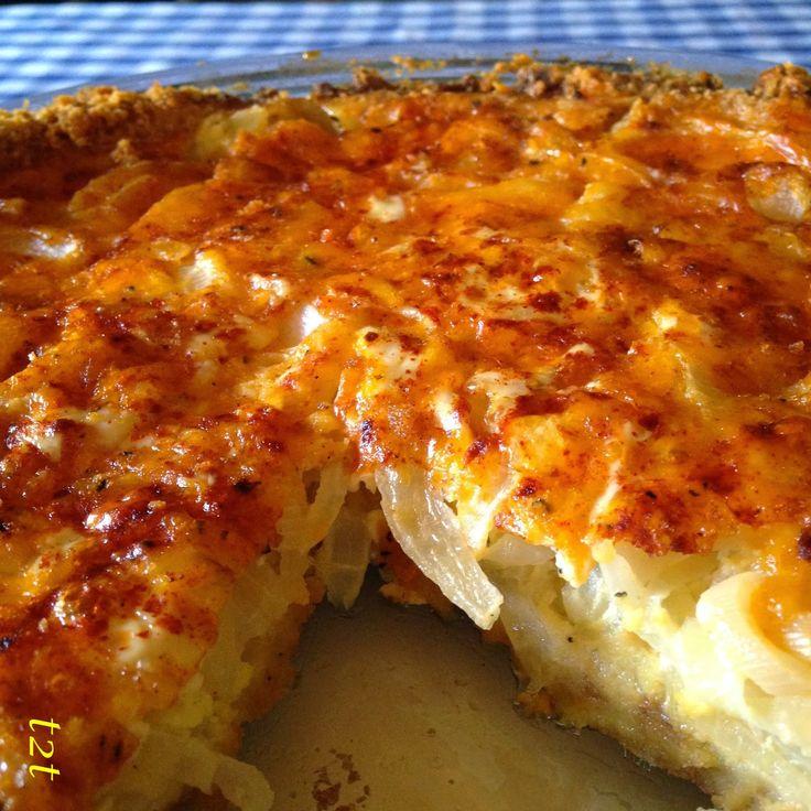 Turnips 2 Tangerines: Cheddar and Ritz Cracker Vidalia Onion Pie