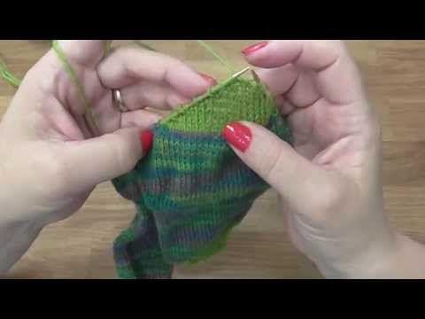Kurz pletení ponožek -patový váček (6. díl) Knitting socks - YouTube