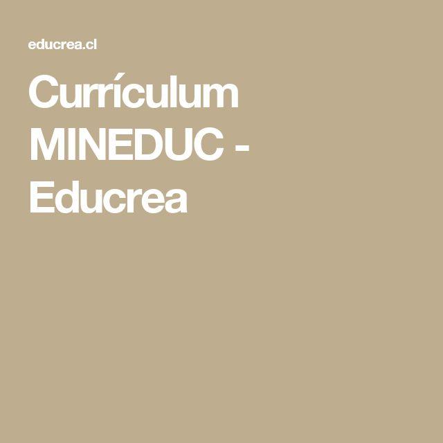 Currículum MINEDUC - Educrea