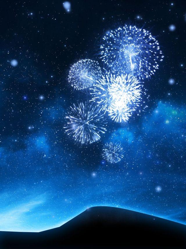 Starlight Christmas Event 2020 Moni Blue Beautiful Romantic Fireworks Night Sky Background in 2020