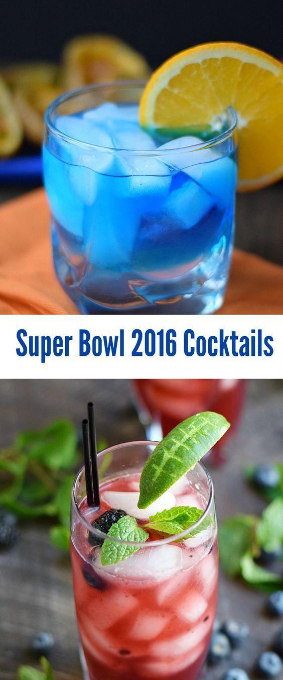 Super Bowl 2016 Cocktails Broncos vs Panthers | cookingwithcurls.com