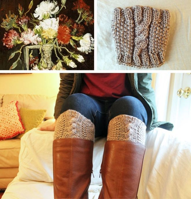 Free Knit Boot Cuff Pattern // - Plum Elephant