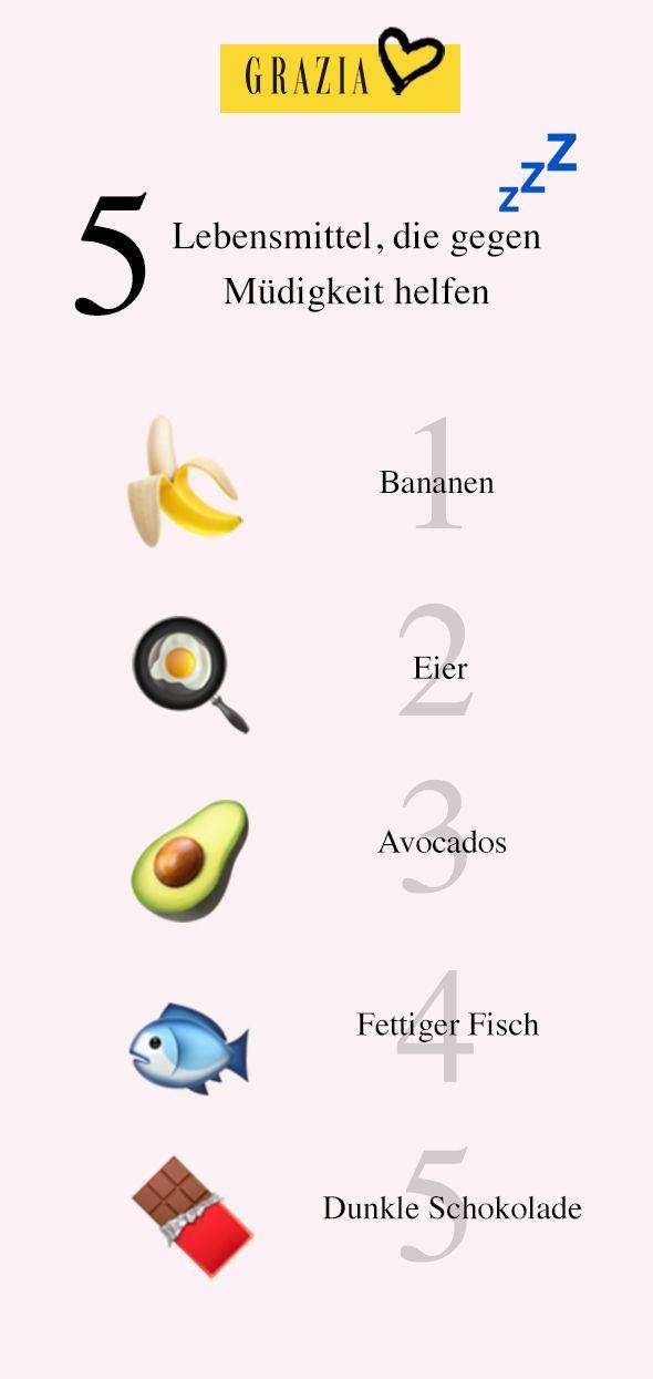 DIESE Lebensmittel wirken gegen ständigen Müdigkeit  Lebensmittel