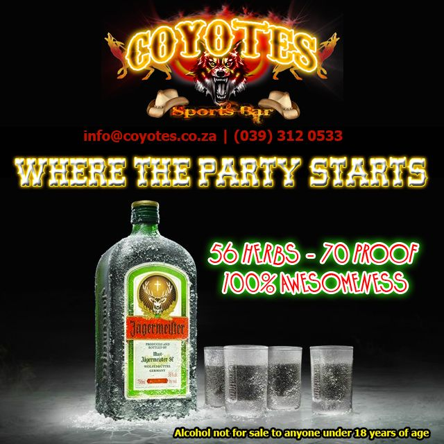 It's not a #party until you have had a shot of #Jagermeister @jagermeistersa #PartyStarter #KZNsouthCoast #Margate