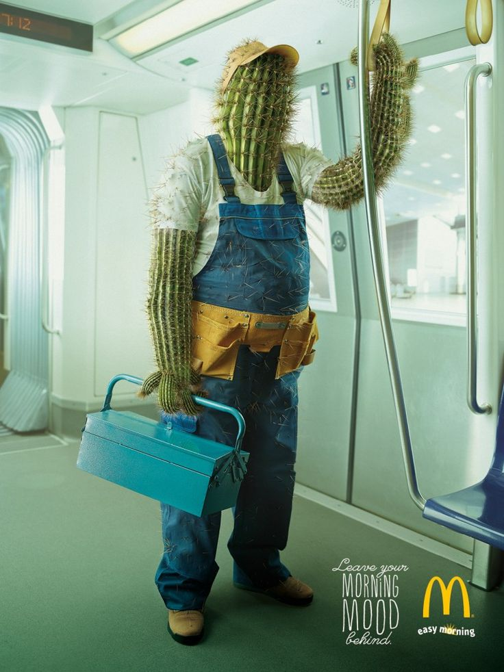 """adv / McDonald's: Morning Mood, Cactus - """"Leave your morning mood behind."""" #Advertising #Cactus"""