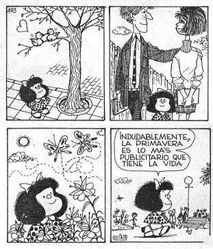 MAFALDA EN PRIMAVERA