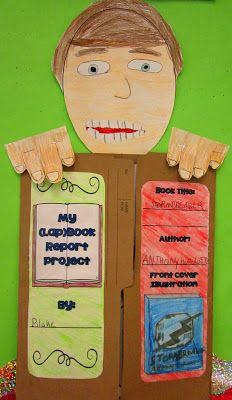 """lap book"" fun activity to do with independent reading book-way better than writing another book report!"