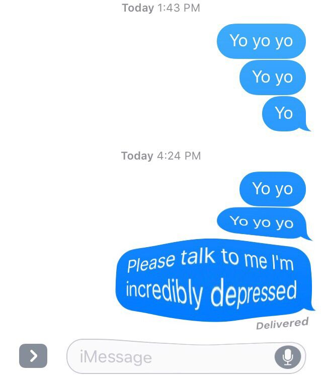 Actual messages I sent to my friend Tessa