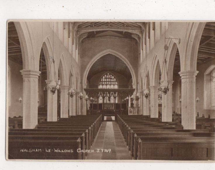 Walsham Le Willows Church Suffolk Vintage RP Postcard 779A | eBay