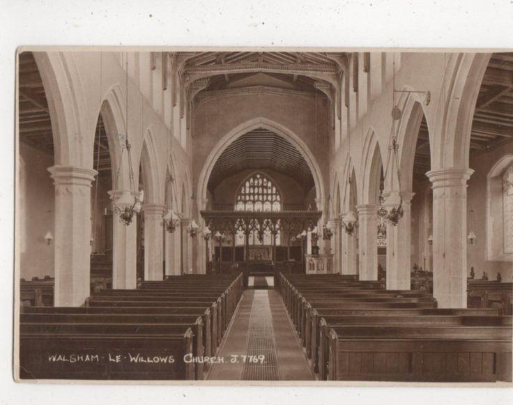 Walsham Le Willows Church Suffolk Vintage RP Postcard 779A | eBay