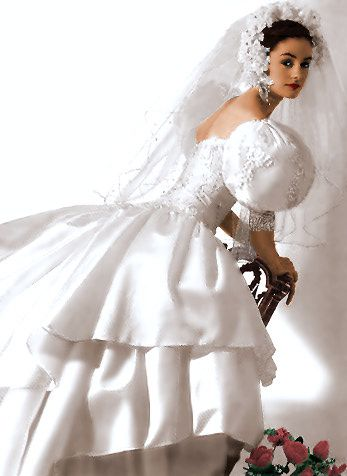 Elizabeth hurley perfume ad wedding dress