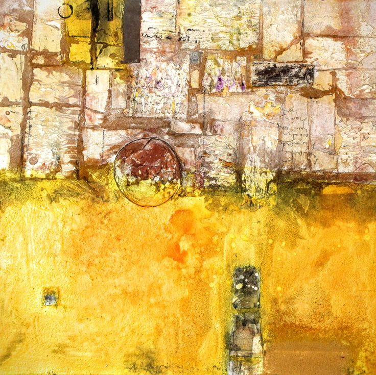 Paysage, peinture de Mehdi Bourkia.