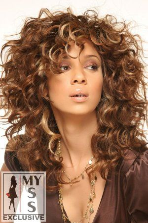 I Love this Curly Hair-DO !! I wish I could get My Curls to look this FAB- Bravo !! ♥