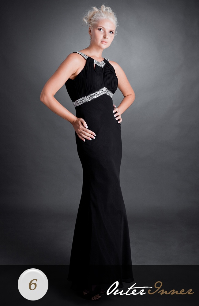 Chiffon Sleeveless Black V-neck Black Tie Event Style Code: 00460Vneck Black, Black Vneck