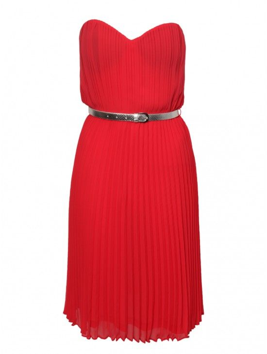 Red Pleated Bandeau Prom Dress | Dresses | Shop by Item | Clothing | Jane Norman 20
