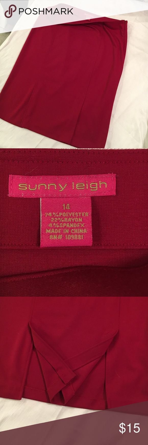 Red skirt Red pencil skirt Sunny Leigh Skirts Pencil