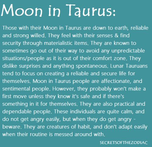 Amazing, Sandra!!!!! Thanks! THE WORLD OF ASTROLOGY: Moon in Taurus