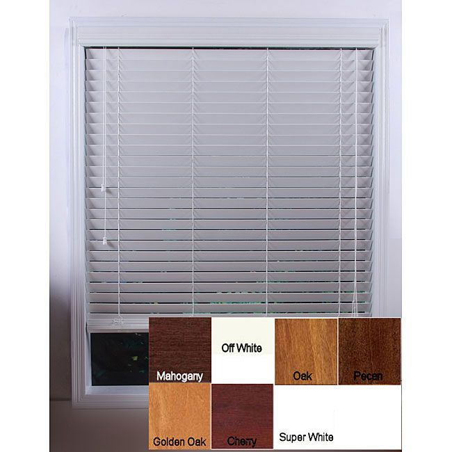 These wooden window blinds come in a variety of colors to give your room a custom look. They install quickly and easily with the included hardware. Made from durable basswood, these blinds are treated with a special topcoat to ensure lasting beauty.