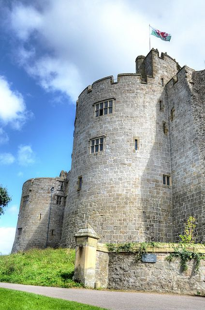 Chirk Castle, Wales. The castle was built in 1295 by Roger Mortimer de Chirk, uncle of Roger Mortimer, 1st Earl of March as part of King Edward 1 chain of fortresses across the north of Wales. It guards the entrance to the Carlriog Valley. It was the administrative centre for the Marcher Lordship