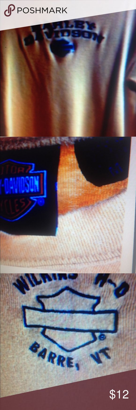 Long sleeve Harley shirt, mustard color. Harley shirt Harley-Davidson Tops Tees - Long Sleeve