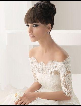 Braided updo bun bridal hairstyle