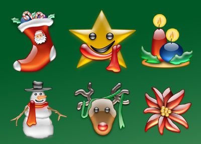 """Christmas is coming and we would like to present especially for you Beautiful Christmas Icon Sets which you can use for your web site or your desktop. If some beautiful icons are missing? Let us know! Below are the Icons in New Style.      1. """"Xtal Icons"""" 2. """"Christmas Icons"""" 3. """"Christmas pack"""". 4. """"Christmas Icons"""" 5.""""Adobe CS3 Icons – xMas style"""""""