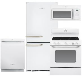 without microwave, about $2000   GE artistry series, white