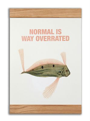 """Normal is way overrated"" #messageearth #sustainable #poster #sustainability #eco #design #ecodesign #vintage"