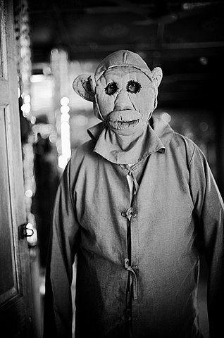 Dressed in Monkey Suit.