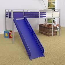 Twin sized metal bunk bed with slide Calgary Alberta image 1