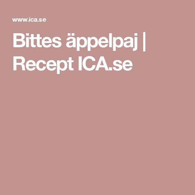 Bittes äppelpaj | Recept ICA.se
