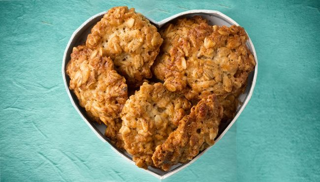 A sugar-free makeover on the humble ANZAC Biscuit. #sugarfree #ANZAC