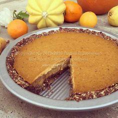 Открытый тыквенный пирог(без муки, без глютена, без масла, без сахара, веганский)