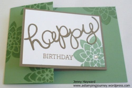 Joy fold card using Stampin' Up! Crazy About You and Hello You Thinlets. https://astampingjourney.wordpress.com/2015/08/11/crazy-about-you-joy-fold/