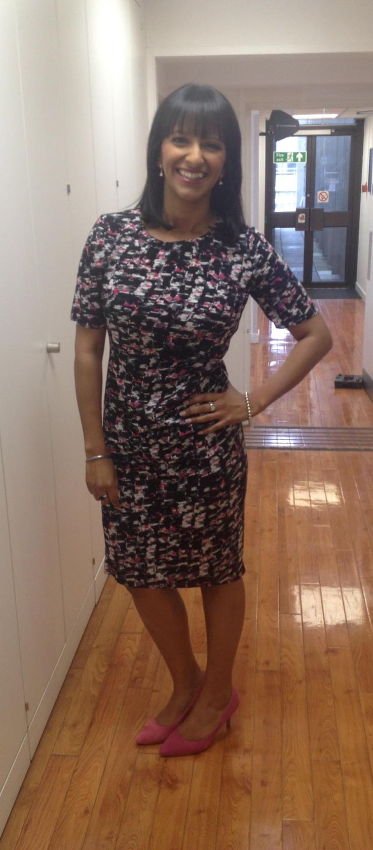 @GMB @ranvir01 looking a beaut as usual in Jasper Conran @Debenhams dress @nextofficial shoes!